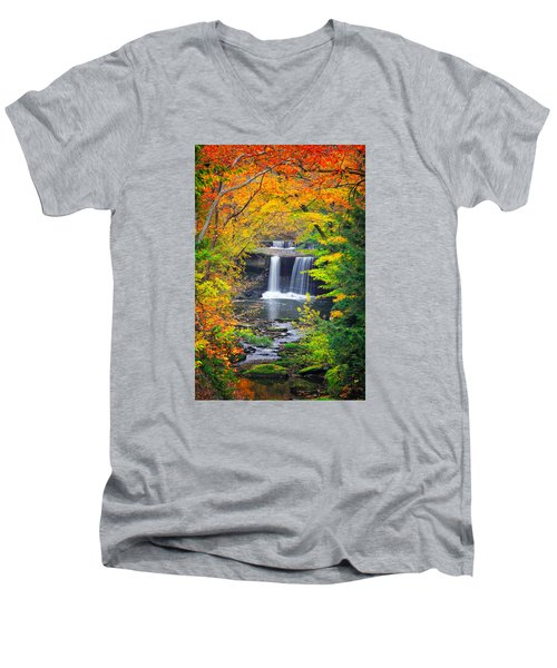 Mill Creek Fall  Men's V-Neck T-Shirt