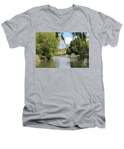 Mill Dam,tickhill Men's V-Neck T-Shirt
