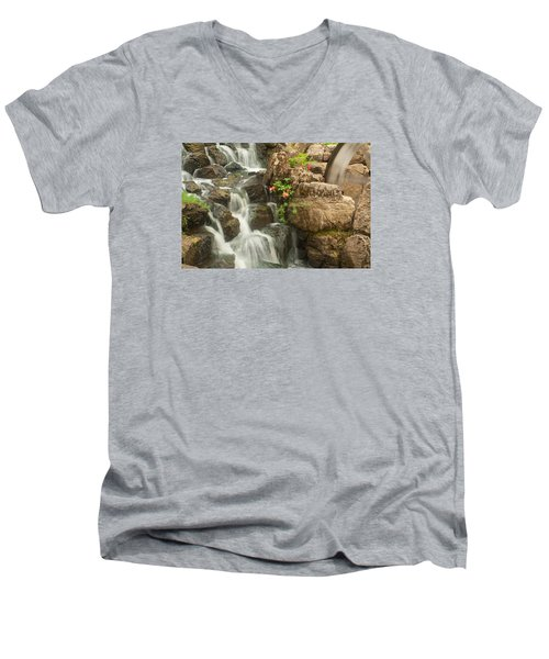Mill Wheel With Waterfall Men's V-Neck T-Shirt