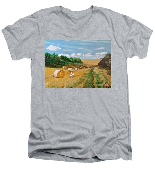 Millie's Day Out - Painting  Men's V-Neck T-Shirt