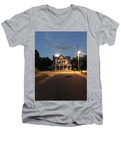 Milton Historic Collins  Men's V-Neck T-Shirt