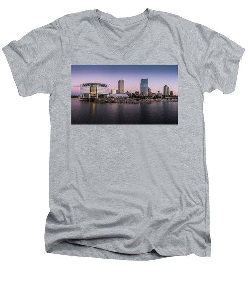 Milwaukee Sky Men's V-Neck T-Shirt