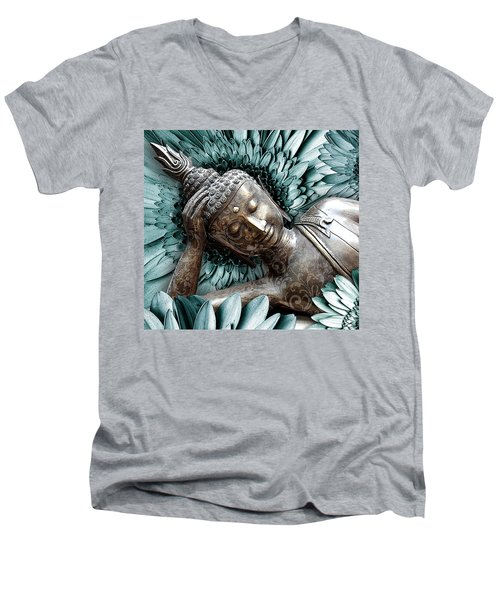 Mind Bloom Men's V-Neck T-Shirt by Christopher Beikmann