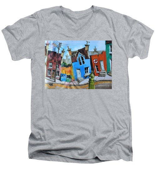 Mind The Step In Ardgrooom Men's V-Neck T-Shirt
