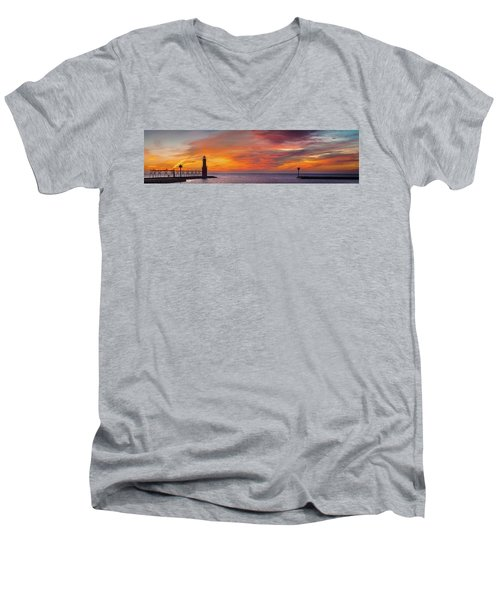 Men's V-Neck T-Shirt featuring the photograph Mine Eyes Have Seen The Glory by Bill Pevlor