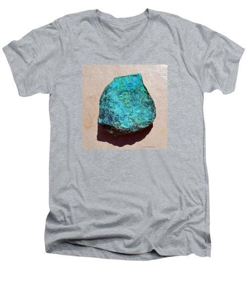 Mineral-chrysocolla Men's V-Neck T-Shirt