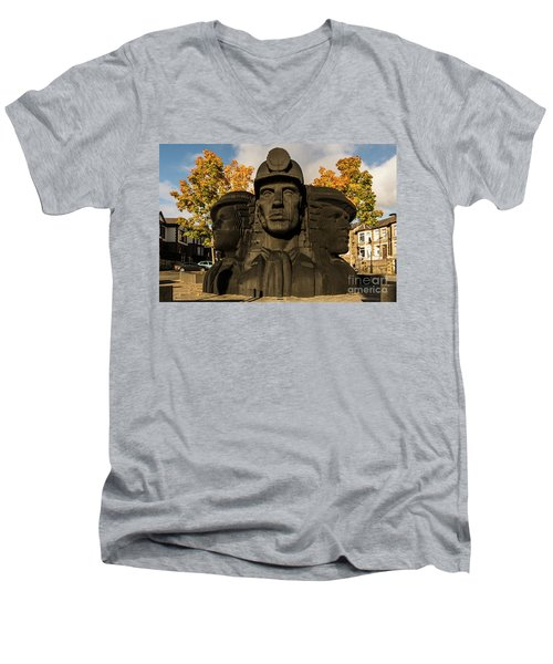 Miners In The Autumn Men's V-Neck T-Shirt