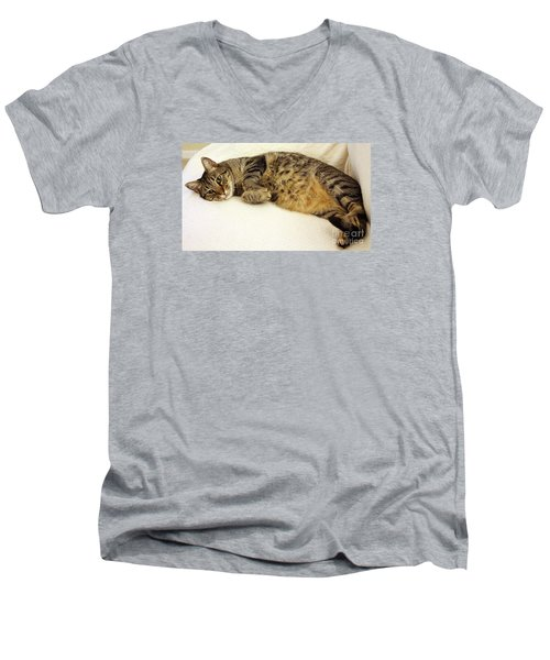Ming Resting On The Couch Men's V-Neck T-Shirt