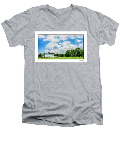 Mingoville Clouds Men's V-Neck T-Shirt by R Thomas Berner