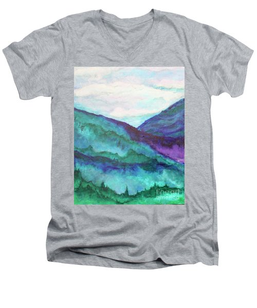 Mini Mountains Majesty Men's V-Neck T-Shirt