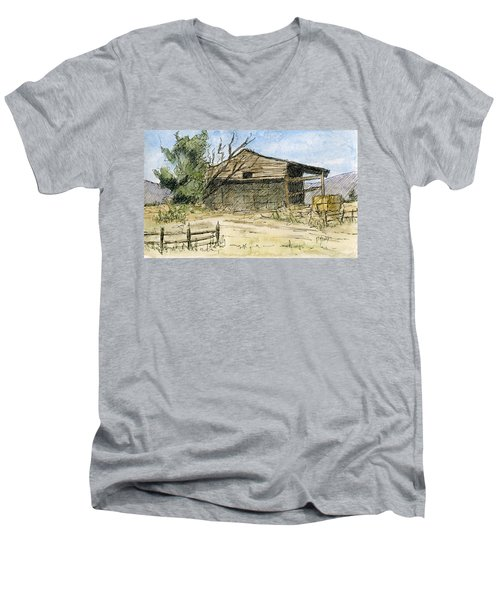 Mini No 1 Old Hay Shed Men's V-Neck T-Shirt