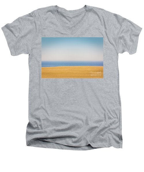 Minimal Lake Ontario Men's V-Neck T-Shirt