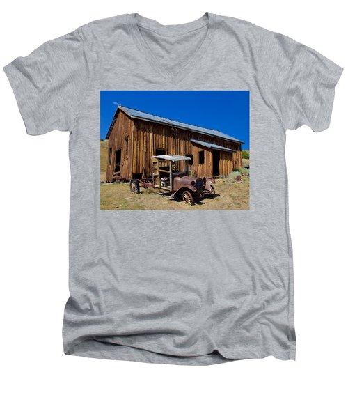 Mining Relic Men's V-Neck T-Shirt by Todd Kreuter
