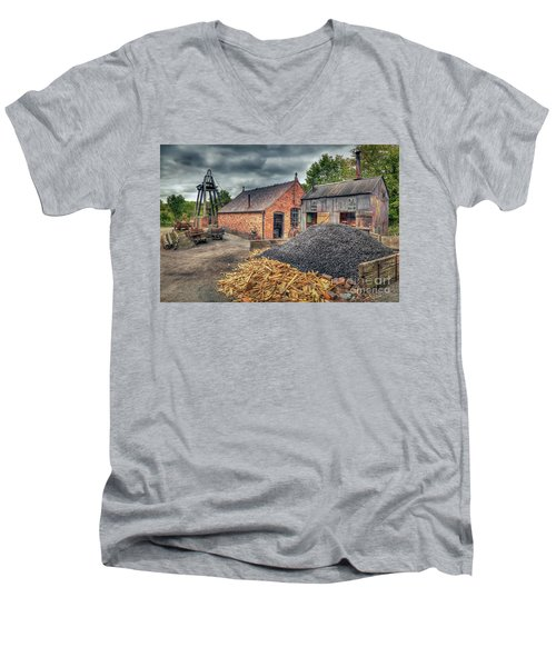 Men's V-Neck T-Shirt featuring the photograph Mining Village by Adrian Evans