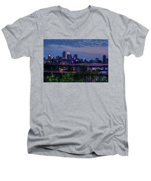 Minneapolis In Purple 1 Men's V-Neck T-Shirt