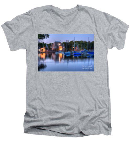 Minneapolis Skyline Photography Men's V-Neck T-Shirt