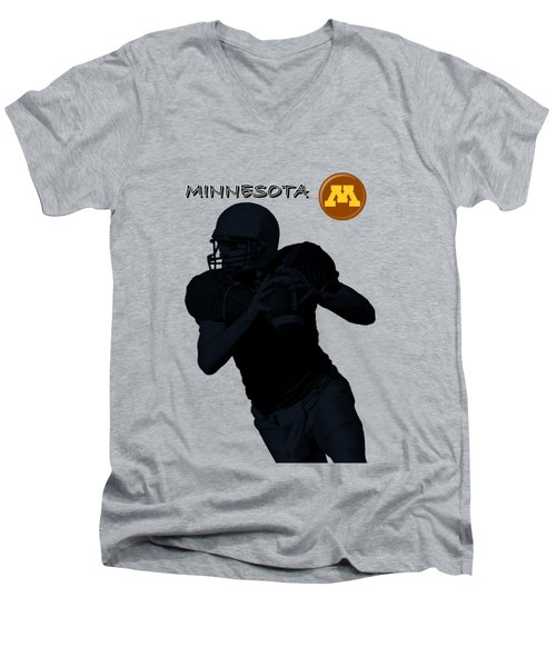 Minnesota Football Men's V-Neck T-Shirt by David Dehner