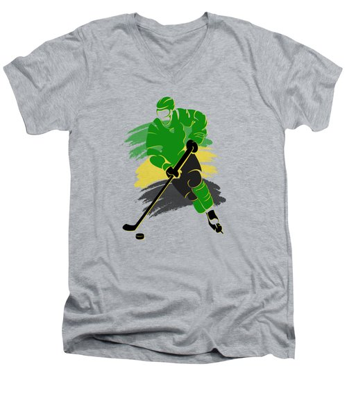 Minnesota North Stars Player Shirt Men's V-Neck T-Shirt by Joe Hamilton