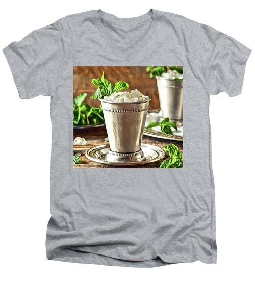 Mint Julep Double Men's V-Neck T-Shirt
