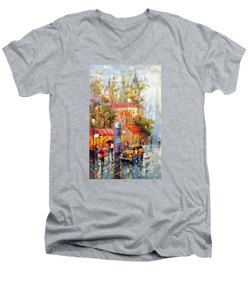 Minutes Of Waiting 2  Men's V-Neck T-Shirt by Dmitry Spiros