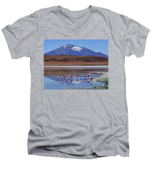 Men's V-Neck T-Shirt featuring the photograph Mirage by Skip Hunt