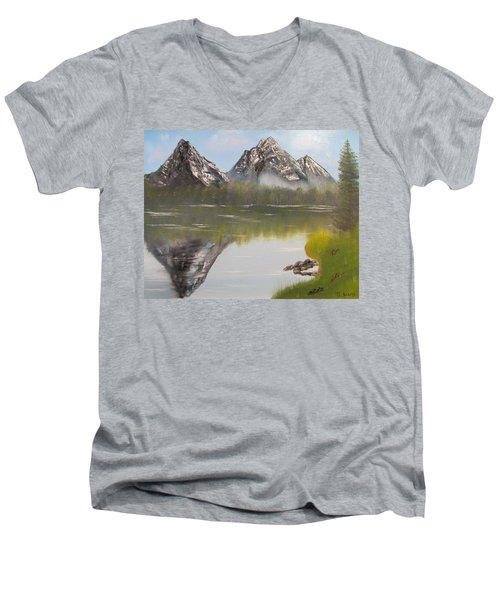 Mirror Mountain Men's V-Neck T-Shirt