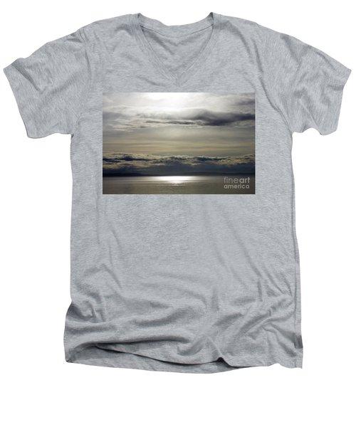 Mirror Sunset Landscape Men's V-Neck T-Shirt