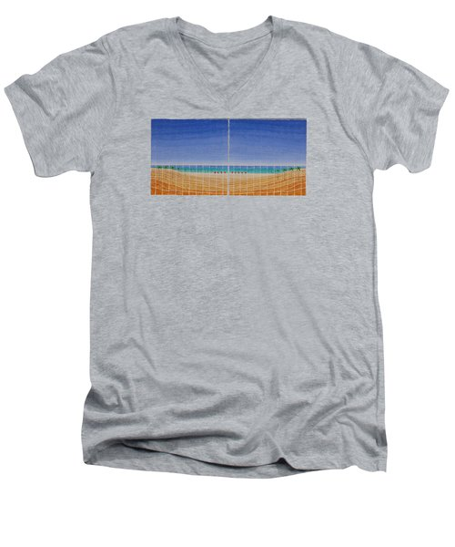 Mirror Twin Beaches Men's V-Neck T-Shirt