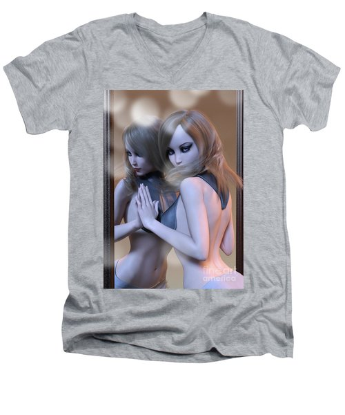 Mirrored Gaze Men's V-Neck T-Shirt