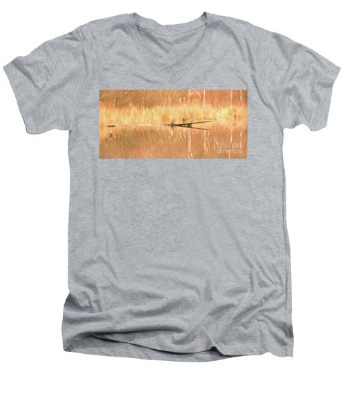 Men's V-Neck T-Shirt featuring the photograph Mirrored Reflection by Laurinda Bowling