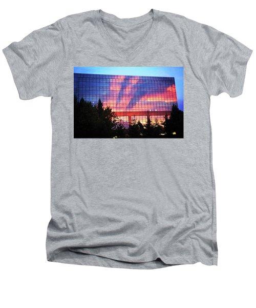 Mirrored Sky Men's V-Neck T-Shirt