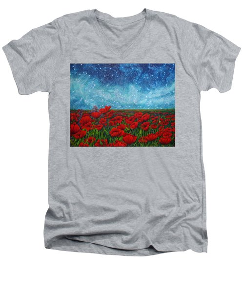 Mischling Men's V-Neck T-Shirt by Matt Konar