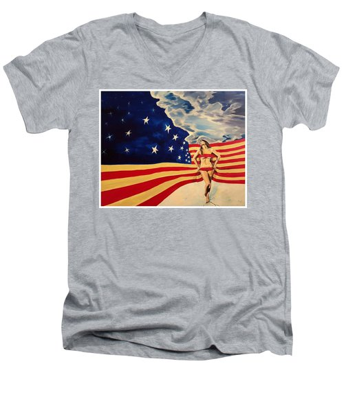 Miss America? Men's V-Neck T-Shirt
