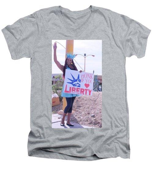 Miss Liberty Men's V-Neck T-Shirt