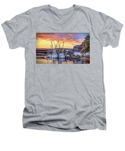 Miss Nichole's Shrimping Company Men's V-Neck T-Shirt
