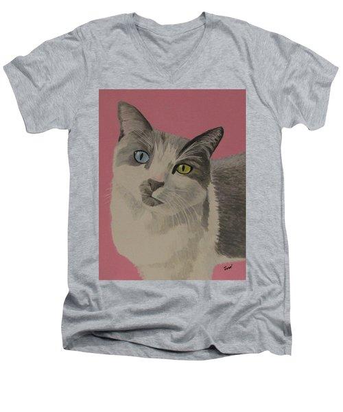 Miss Pretty Kittie Men's V-Neck T-Shirt