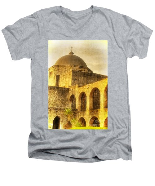 Mission San Jose San Antonio Texas Men's V-Neck T-Shirt