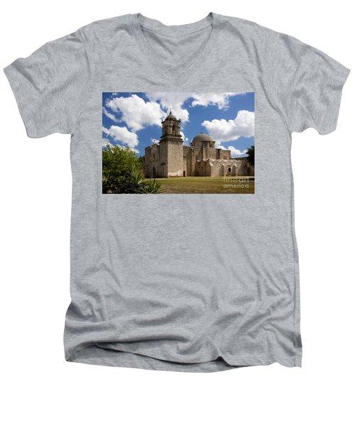 Mission San Juan Men's V-Neck T-Shirt