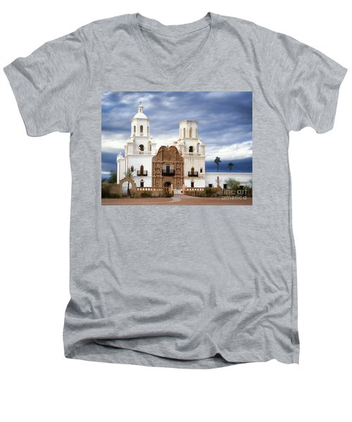 Mission San Xavier Del Bac Men's V-Neck T-Shirt