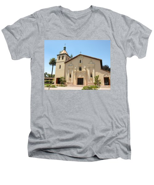 Mission Santa Clara Men's V-Neck T-Shirt by Mini Arora