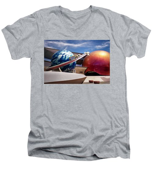 Mission Space Men's V-Neck T-Shirt by Eduard Moldoveanu