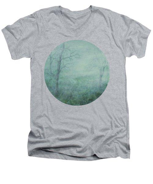 Mist On The Meadow Men's V-Neck T-Shirt