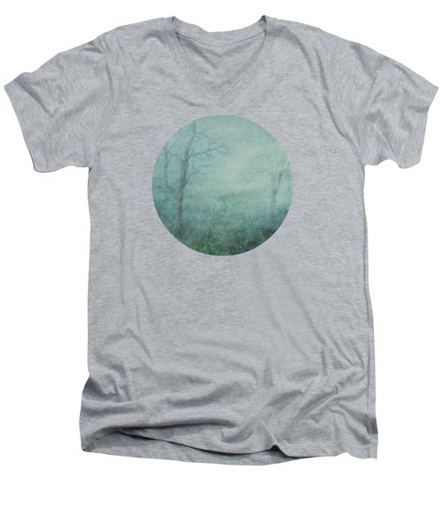 Mist On The Meadow Men's V-Neck T-Shirt