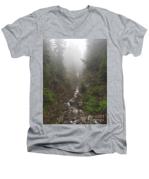 Misted Waterfall Men's V-Neck T-Shirt
