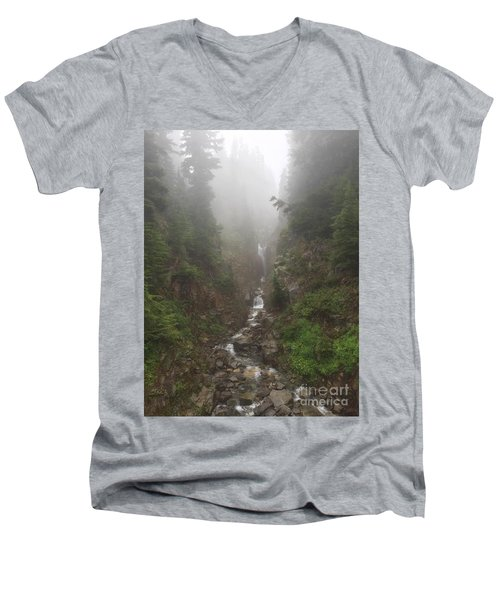 Misted Waterfall Men's V-Neck T-Shirt
