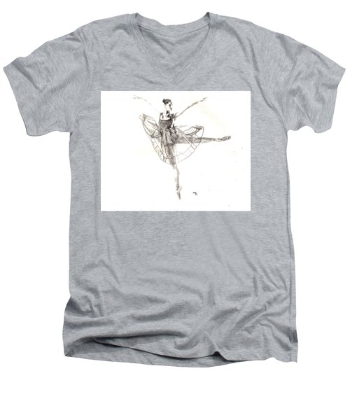 Misty Ballerina Dancer IIi Men's V-Neck T-Shirt