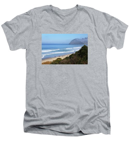 Misty Beach Morning Men's V-Neck T-Shirt