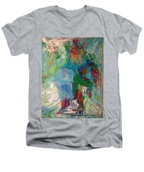 Misty Depths Men's V-Neck T-Shirt
