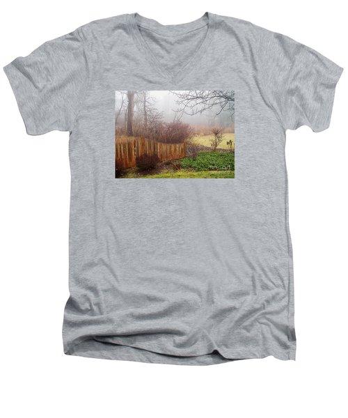 Misty Morn Men's V-Neck T-Shirt by Betsy Zimmerli