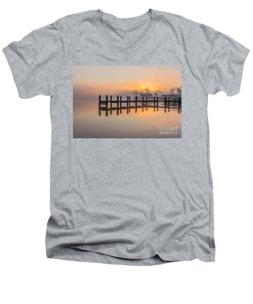 Misty Morning Men's V-Neck T-Shirt by Brian Wright